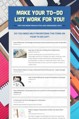 Make your to-do list work for you!