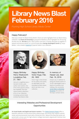 Library News Blast February 2016