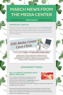 March News from the Media Center