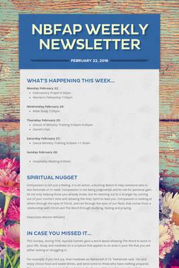 NBFAP Weekly Newsletter