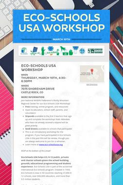 Eco-Schools USA Workshop