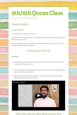 5th/6th Quran Class