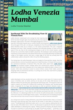 Lodha Venezia Mumbai
