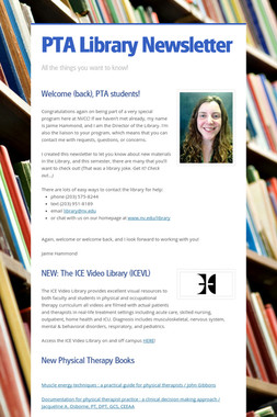PTA Library Newsletter