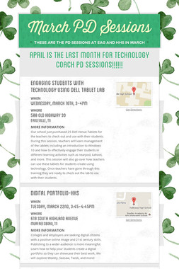 March PD Sessions