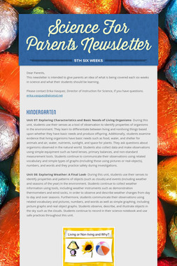 Science For Parents Newsletter