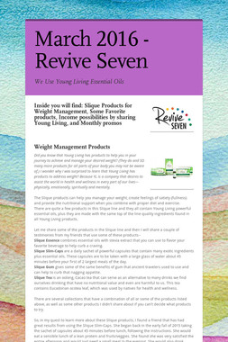 March 2016 - Revive Seven