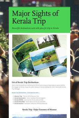 Major Sights of Kerala Trip