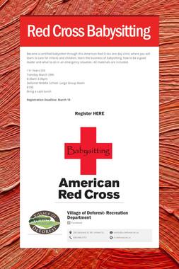 Red Cross Babysitting