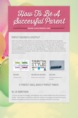 How To Be A Successful Parent