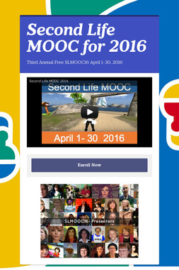 Second Life MOOC for 2016