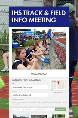 IHS TRACK & FIELD INFO MEETING