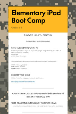Elementary iPad Boot Camp