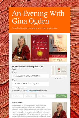An Evening With Gina Ogden