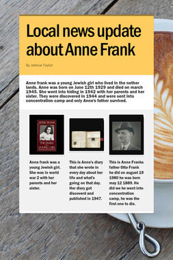 Local news update about Anne Frank