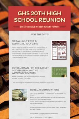GHS 20th High School Reunion
