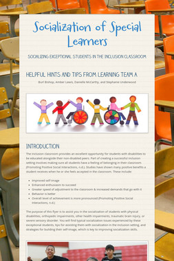 Socialization of Special Learners