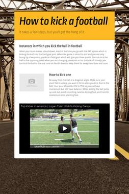 How to kick a football