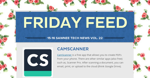 Friday Feed | Smore Newsletters for Education