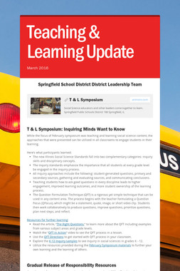 Teaching & Learning Update