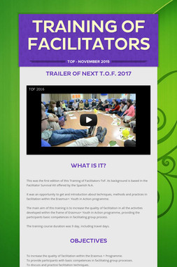 Training of Facilitators