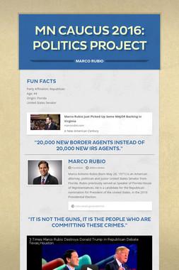 MN Caucus 2016: Politics Project