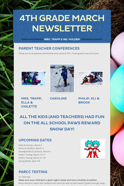 4th Grade MARCH Newsletter