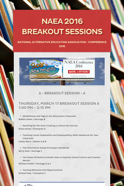 NAEA 2016 Breakout Sessions