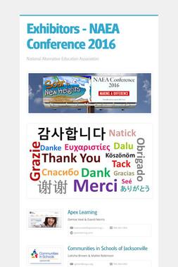 Exhibitors - NAEA Conference 2016