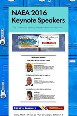 NAEA 2016 Keynote Speakers