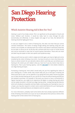 San Diego Hearing Protection