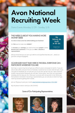 Avon National Recruiting Week