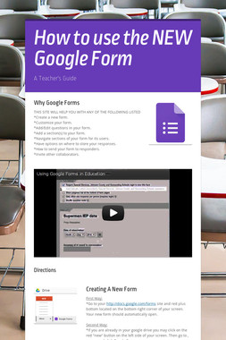 How to use the NEW Google Form
