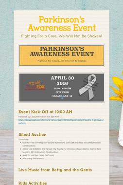 Parkinson's Awareness Event