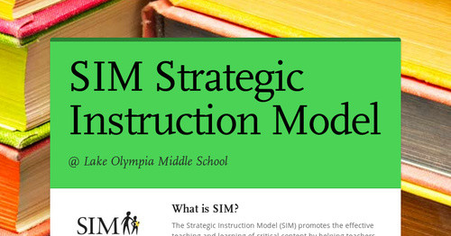 Sim Strategic Instruction Model Smore Newsletters For Education