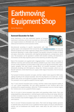 Earthmoving Equipment Shop