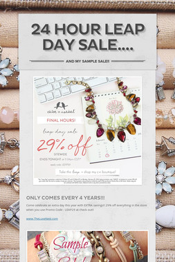 24 Hour LEAP DAY SALE....