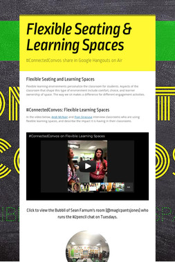 Flexible Seating & Learning Spaces