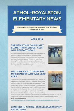 Athol-Royalston Elementary News