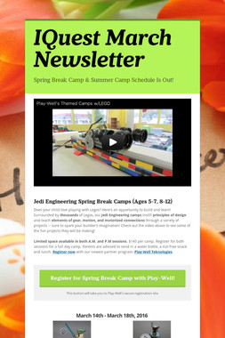 IQuest March Newsletter