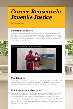 Career Reasearch: Juvenile Justice