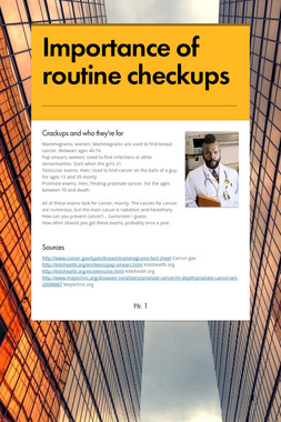 Importance of routine checkups