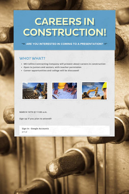 Careers in Construction!