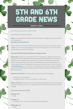 5th and 6th Grade News