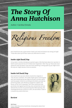 The Story Of Anna Hutchison