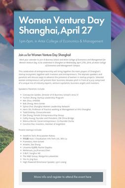 Women Venture Day Shanghai,April 27