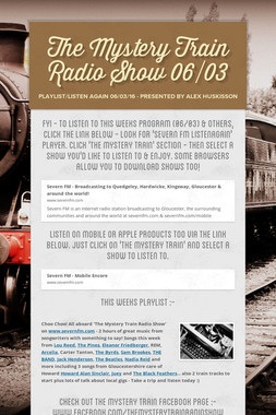 The Mystery Train Radio Show 06/03