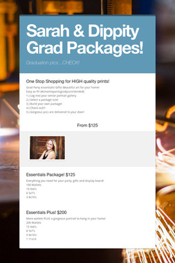 Sarah & Dippity Grad Packages!