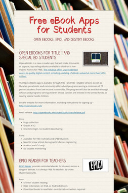 Free eBook Apps for Students