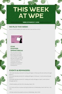 This Week at WPE